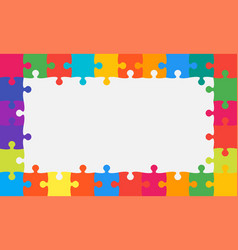 colorful background puzzle jigsaw puzzle banner vector image