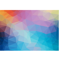 colorful flat background with triangles shapes vector image