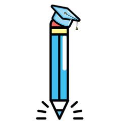 cute pencil cartoon vector image