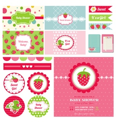 Design Elements - Strawberry Baby Shower Theme vector