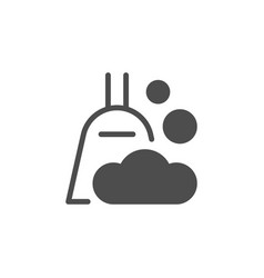 Domestic cleaning icon and broom symbol vector