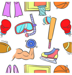 Doodle of sport equipment theme vector