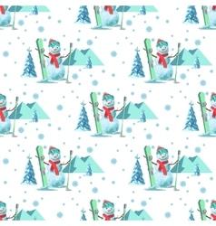 Endless pattern Christmas theme seamless vector image