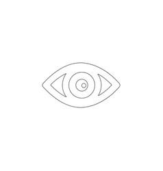 Eye flat icon vector