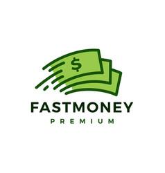 fast money paper quick logo icon vector image