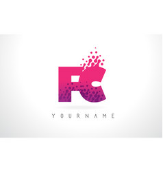 Fc f c letter logo with pink purple color and vector