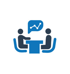Financial meeting icon vector