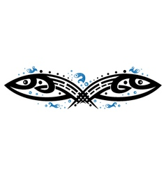Fishes tribal vector image