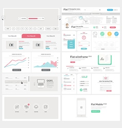 Flat UI element kit for Business templates vector image
