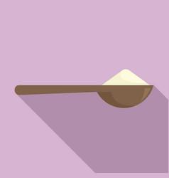 Flour spoon icon flat style vector