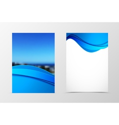 Front and back dynamic wave flyer template design vector image
