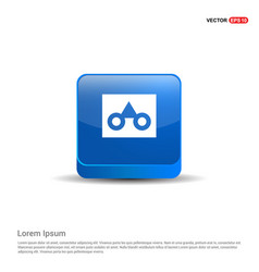Glasses frame icon - 3d blue button vector