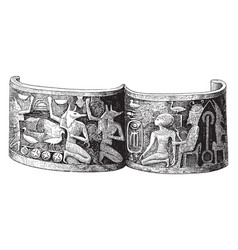 Gold bracelet of the xviiith dynasty vintage vector