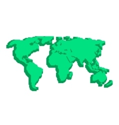 Green 3d world map like pix elements vector