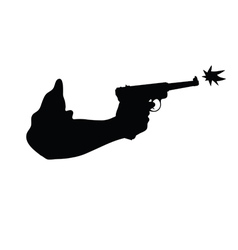 gun in hand vector image