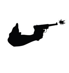 Gun in hand vector
