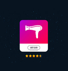 hairdryer sign icon hair drying symbol vector image