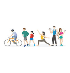 healthy activities from people vector image
