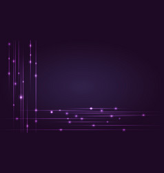 Hi-tech background with glowing string luminous vector