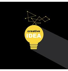 Idea bulb icon concept creative background vector image