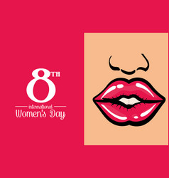 International womens day poster vector