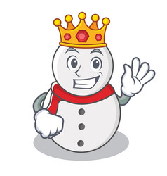 King snowman character cartoon style vector