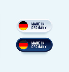 made in germany sign in two color styles vector image