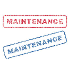 Maintenance textile stamps vector