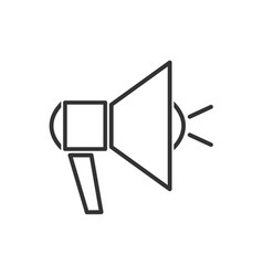 megaphone line icon on a white background vector image