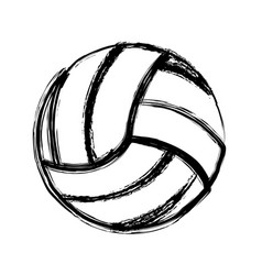 Monochrome sketch of volleyball ball vector