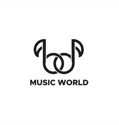 music world logo vector image