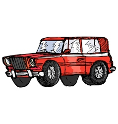 Off-road car vector