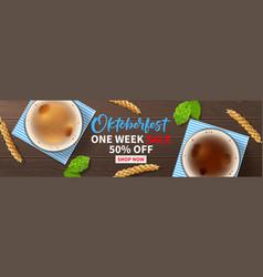 Oktoberfest sale promo web banner vector