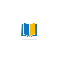 open book colored knowledge logo vector image