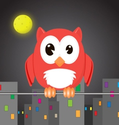 Owlet in the night city vector