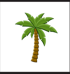 palm tree icon isolated on white background vector image