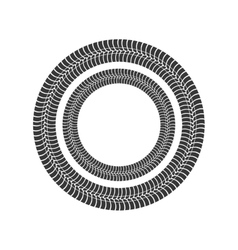 print wheel tire shape black icon graphic vector image