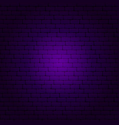 Purple brick wall vector
