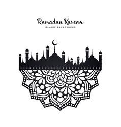 ramadan background vector image