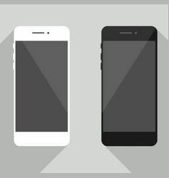 realistic mobile phone collection in new iphone st vector image