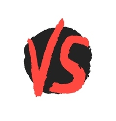 red watercolor versus sign on black stain vector image