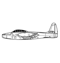 Republic f-84a thunderjet vector