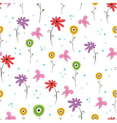 scandinavian flower pattern vector image