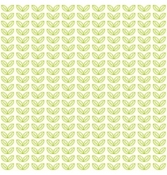Seamless light pattern with green tea leaves vector image