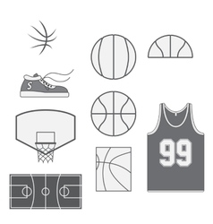 Set of Basketball vintage Design Elements vector