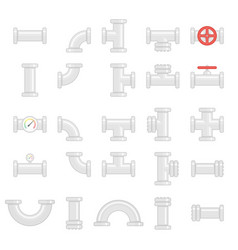 set of water pipes vector image