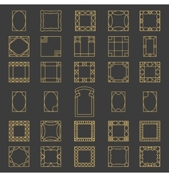 Set square frames vector