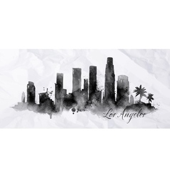 Silhouette ink Los Angeles vector image