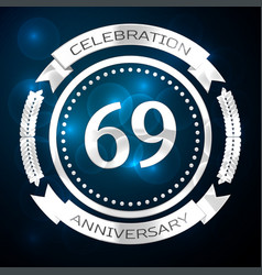 Sixty nine years anniversary celebration with vector