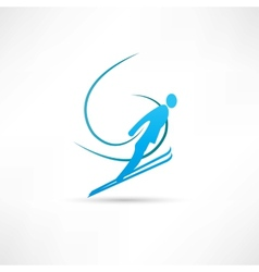ski jumping icon vector image